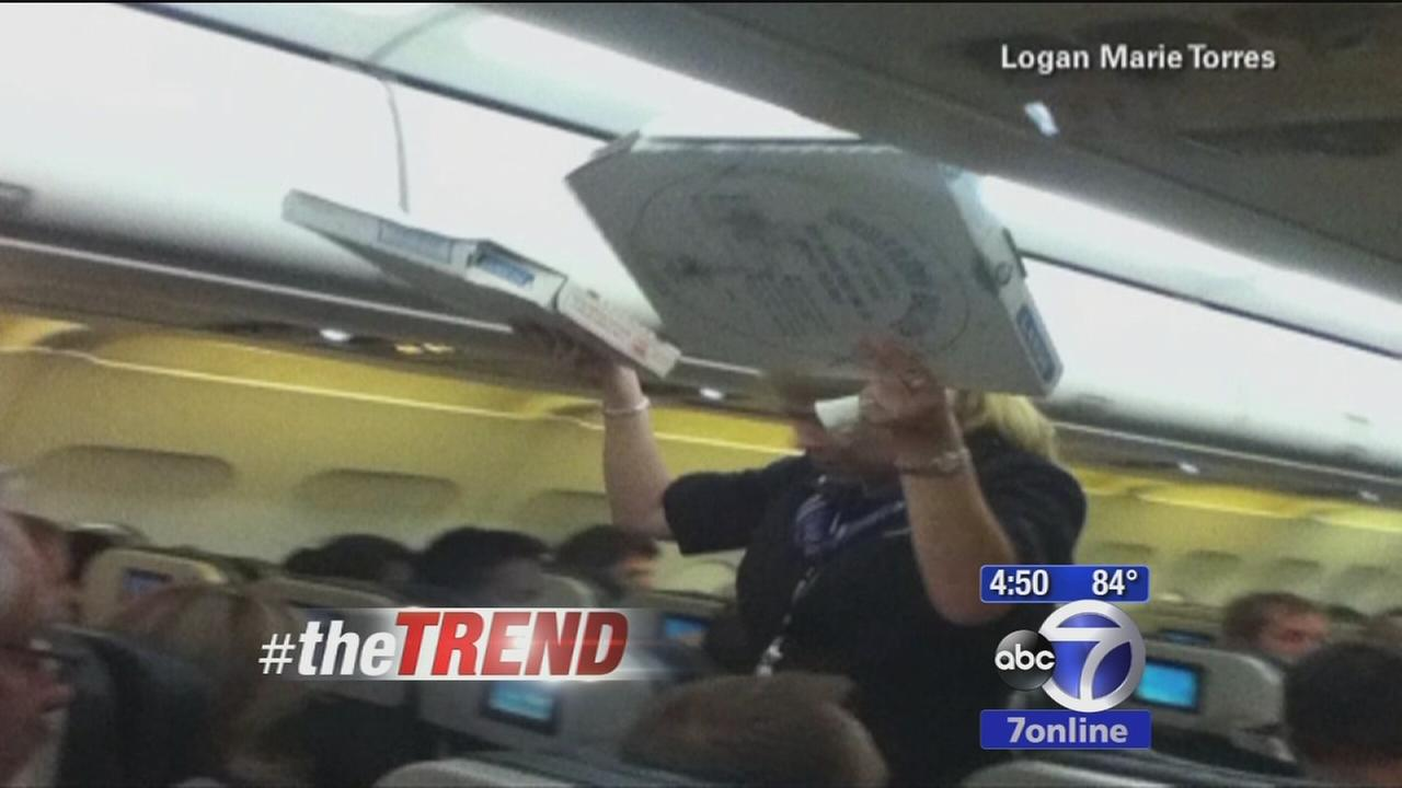 Trend: Pilot buys pizza for passengers