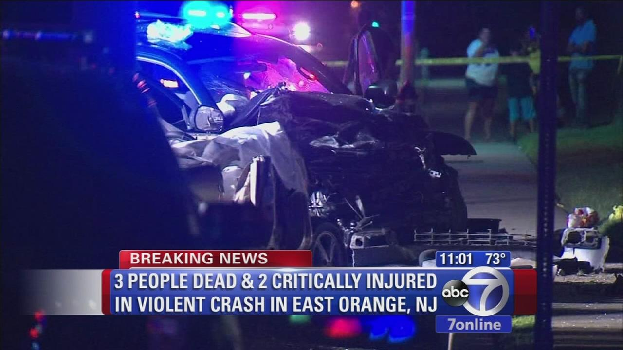Three dead, two injured in East Orange crash