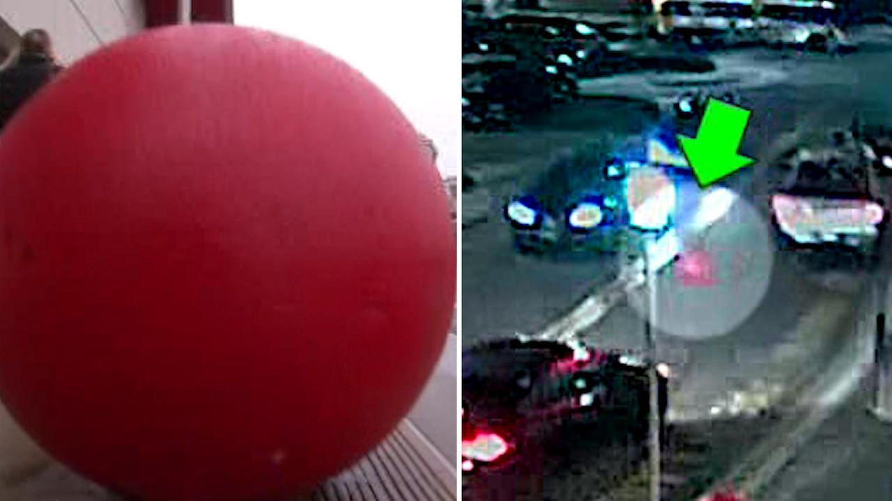 Woman sues Target after 2-ton red ball crashes into car in NJ parking lot