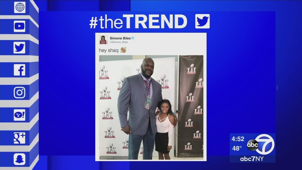 The Trend: Shaq next to Olympian Simone Biles