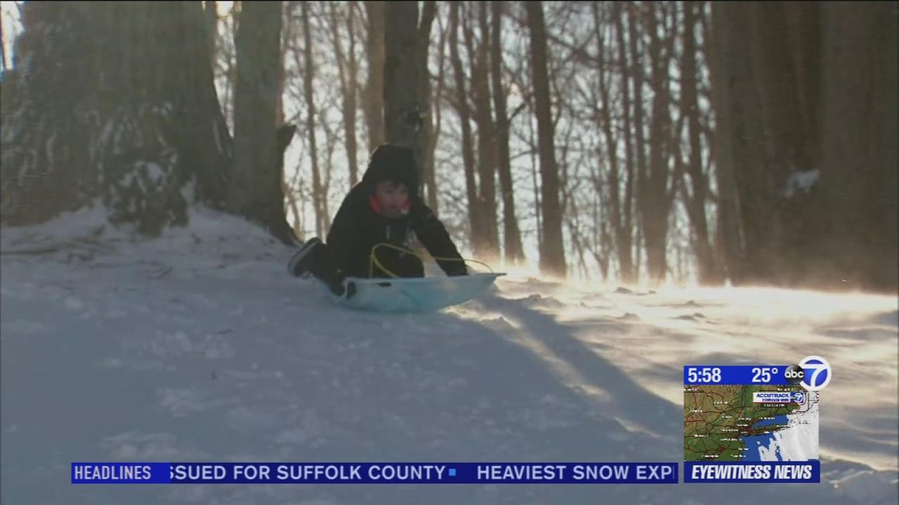 Children, families enjoy winter weather
