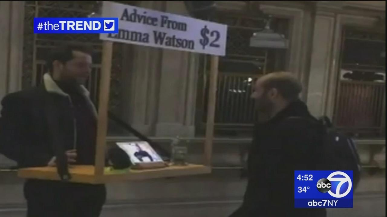 The Trend: Emma Watson offers advice at Grand Central