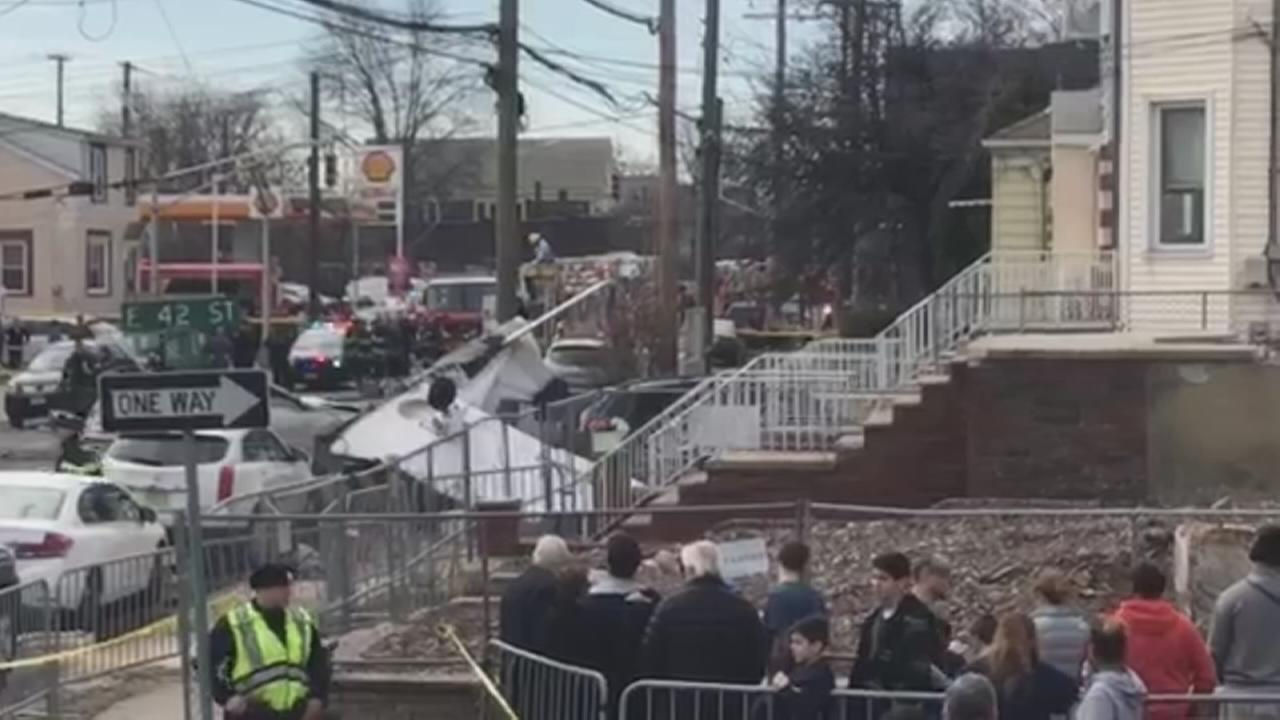 Bayonne crash scene