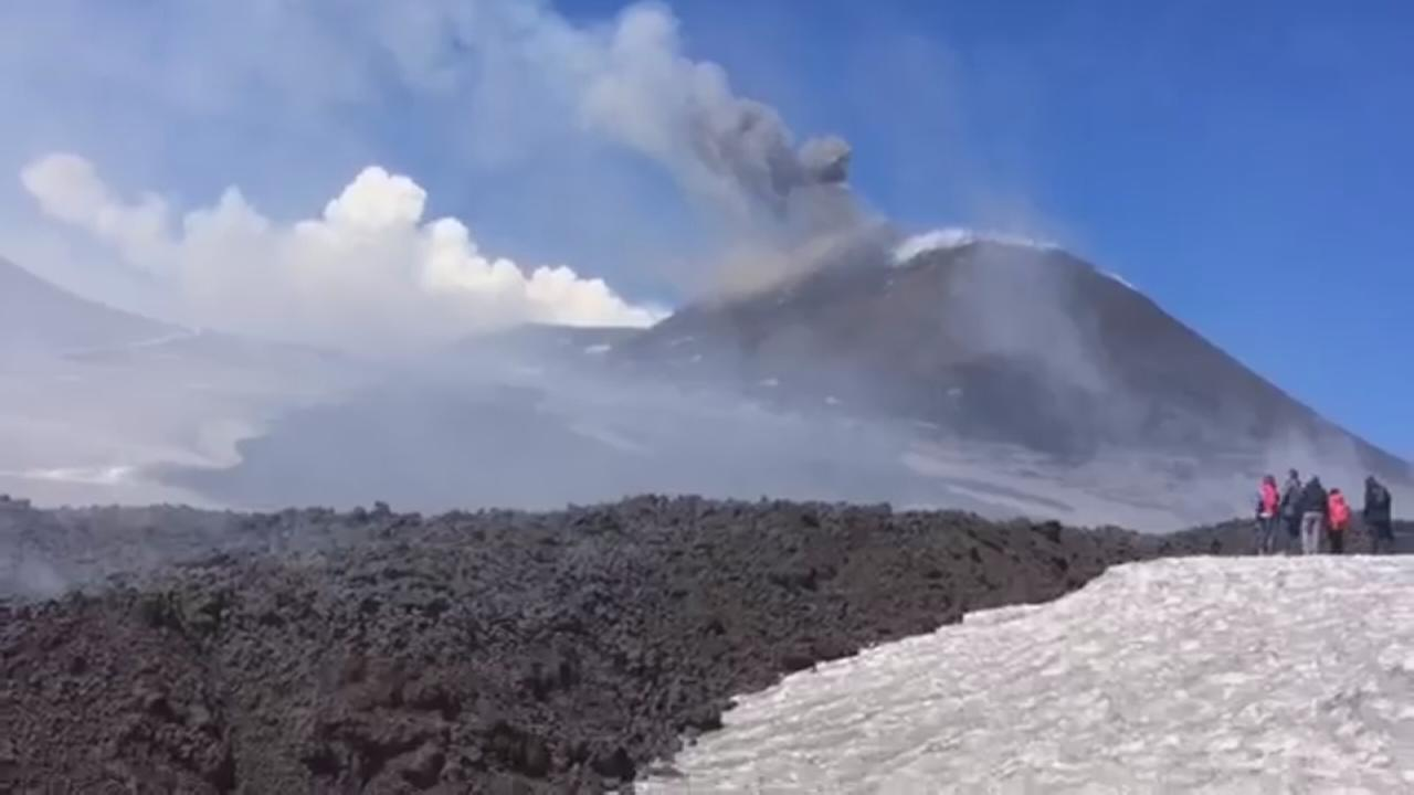 Mount Etna erupts unexpectedly