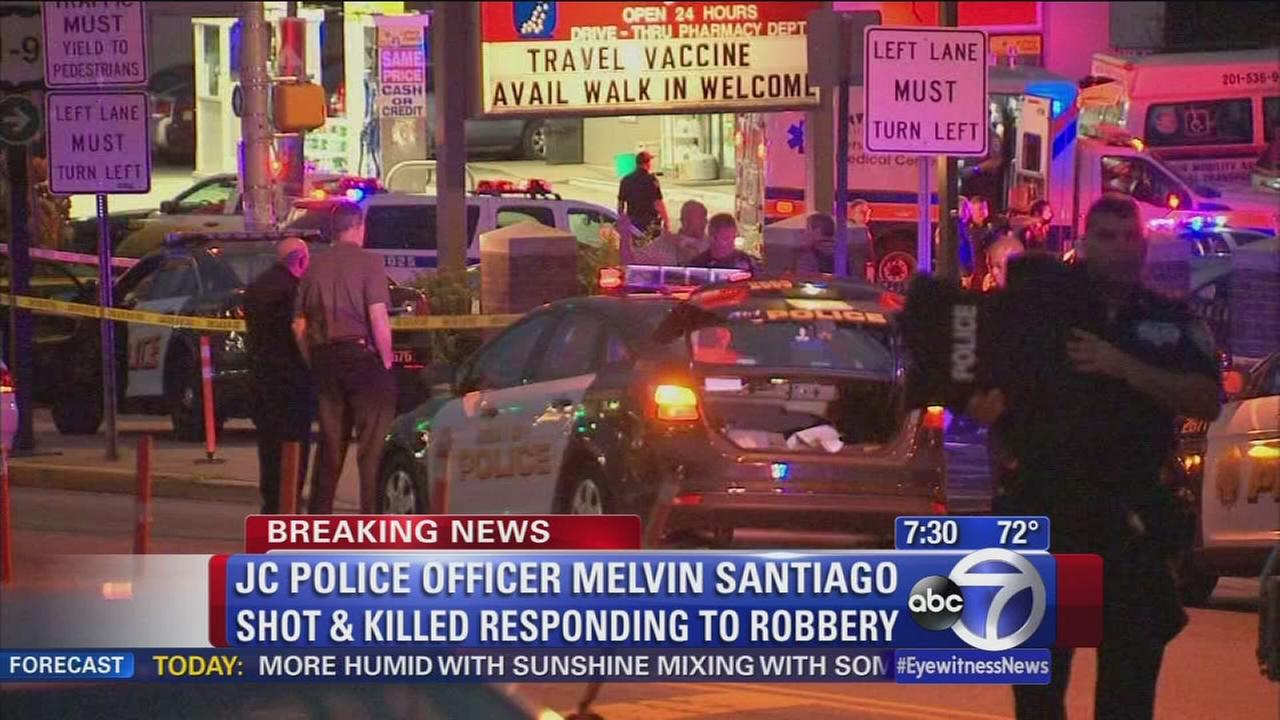 Jersey City officer fatally shot responding to robbery