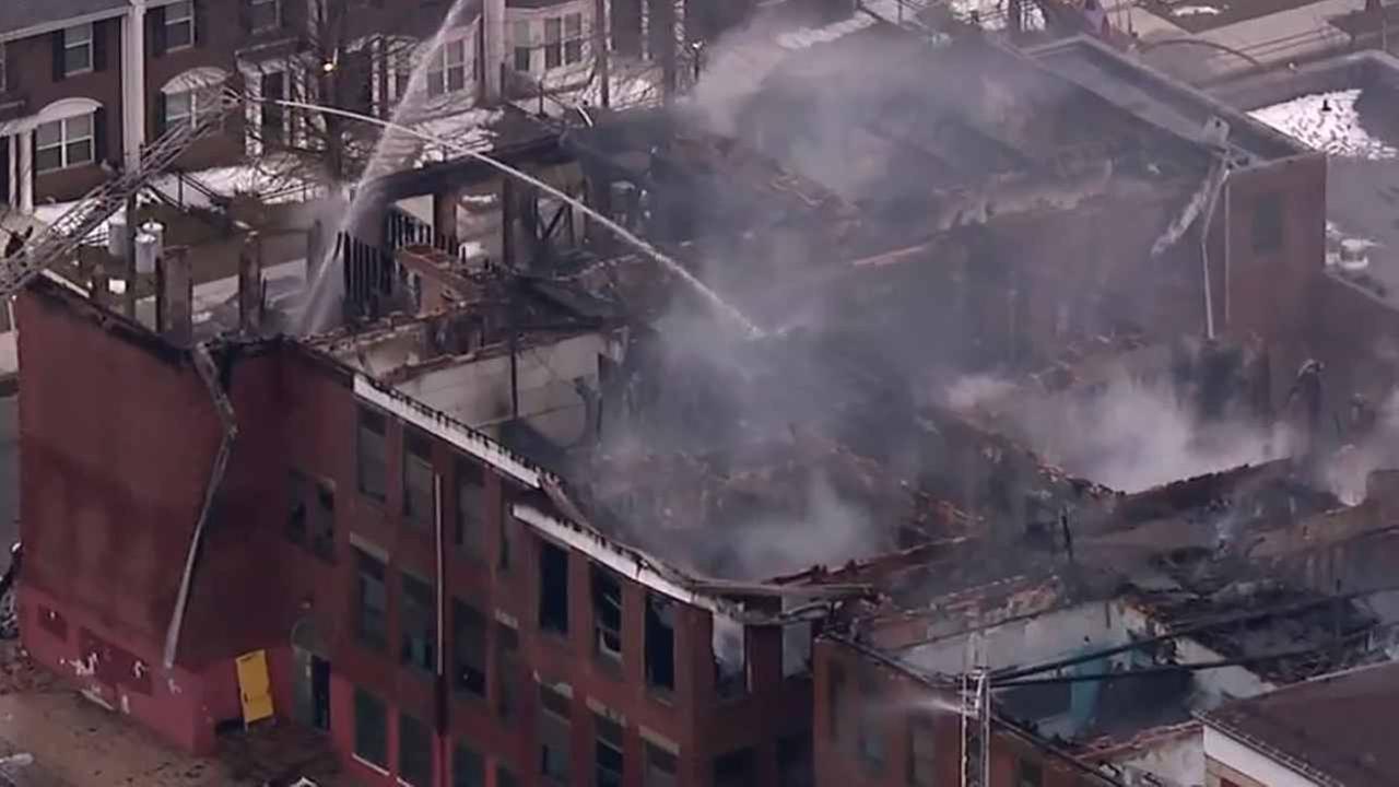 A former school caught fire twice overnight in Newark.