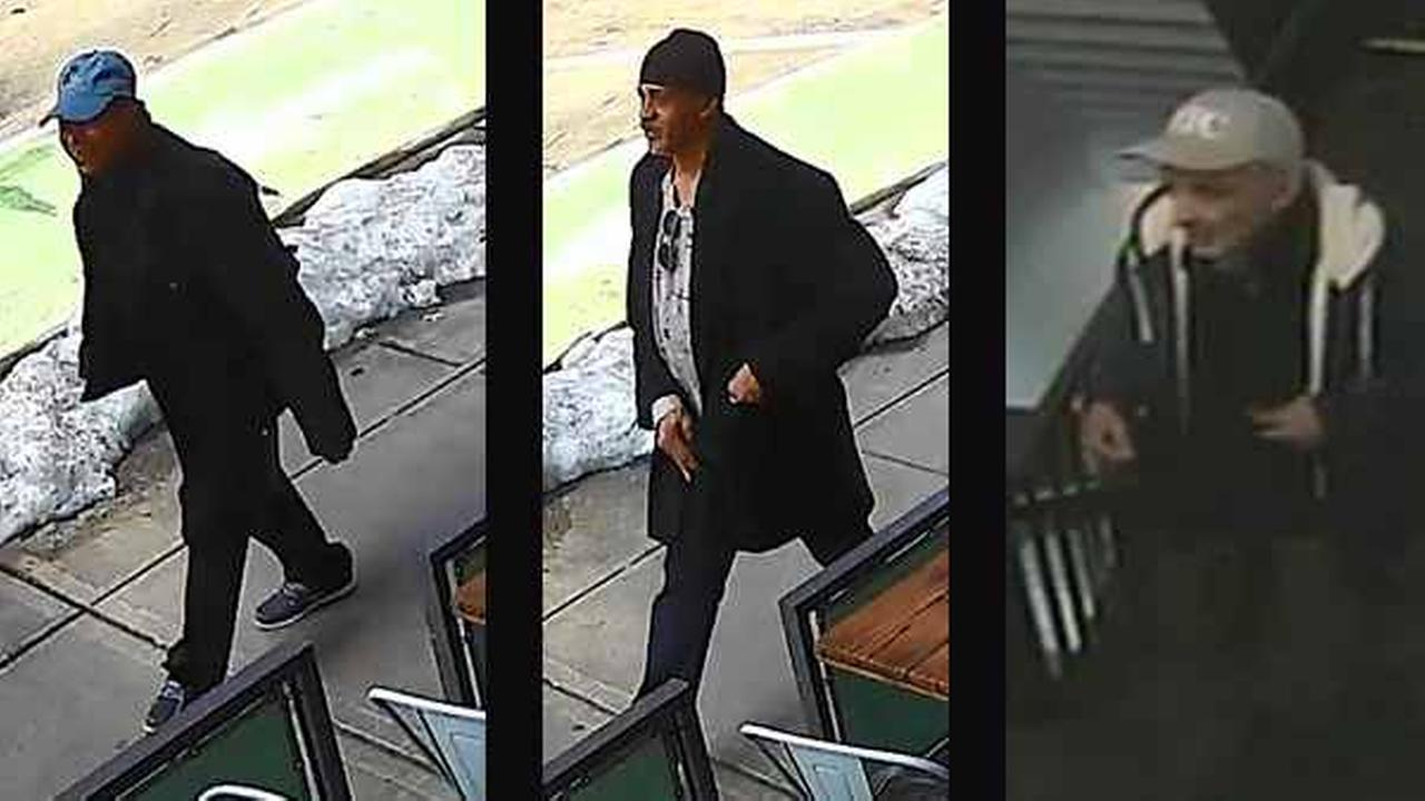 Police said two men (left and center) burglarized apartments on 91st Street, while another man (right) is behind a burglary on East 83rd Street.