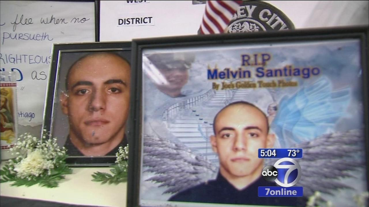911 tapes of moments after Melvin Santiago was shot