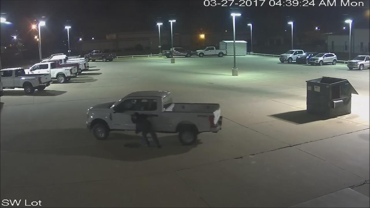 Bumbling thieves struggle to steal truck