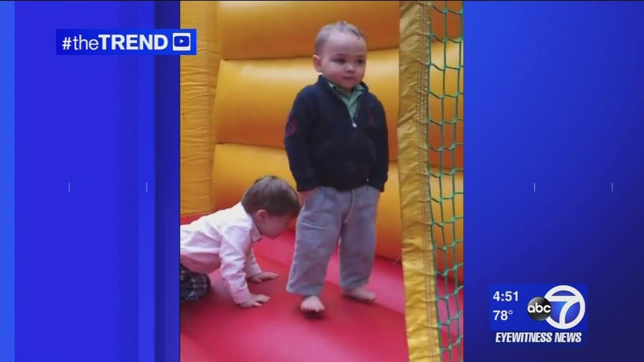The Trend: 2-year-old is too cool in bounce house