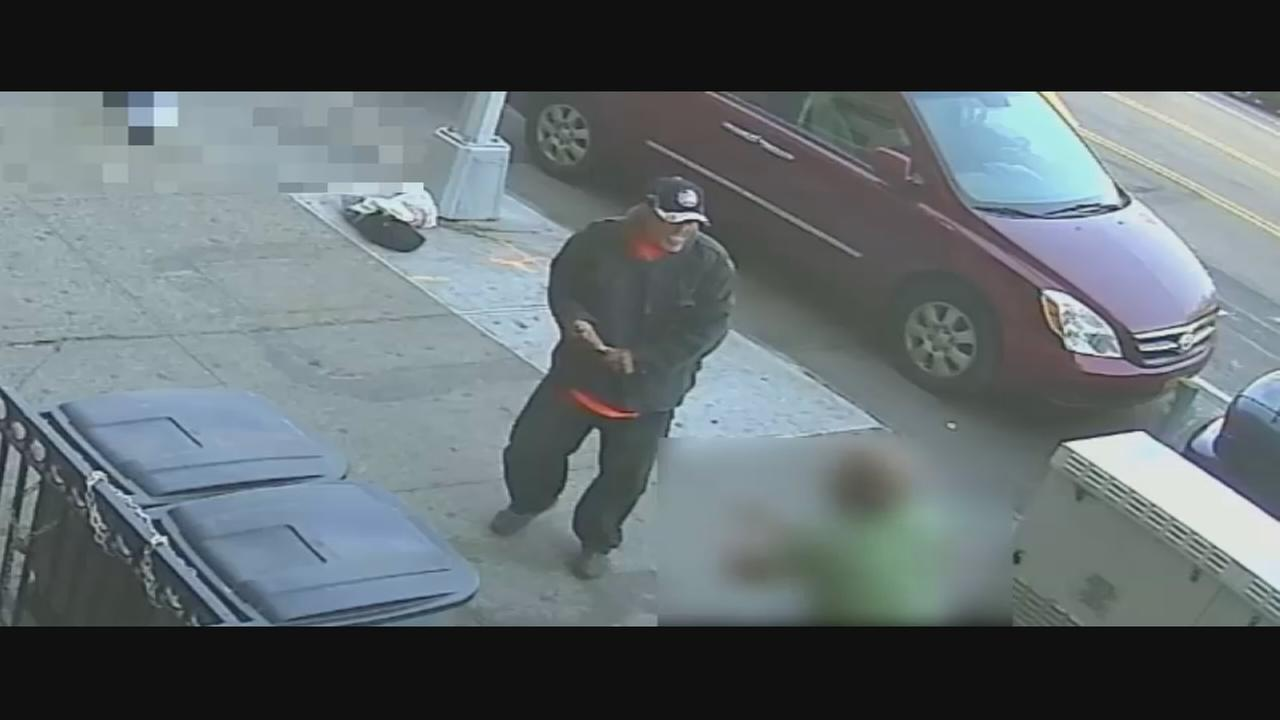 Surveillance video of suspect wanted in Bronx stabbing