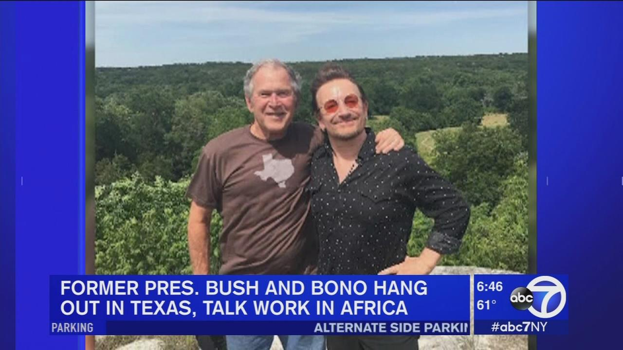Bush and Bono meet