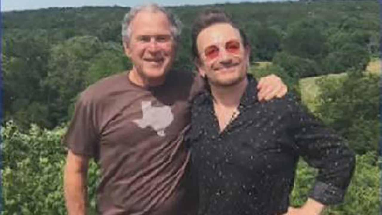 Bush and Bono meet up!