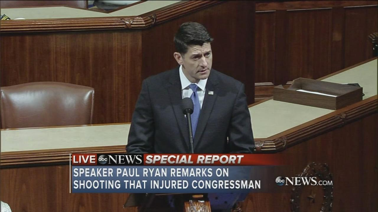 House Speaker Paul Ryan gives remarks on shooting