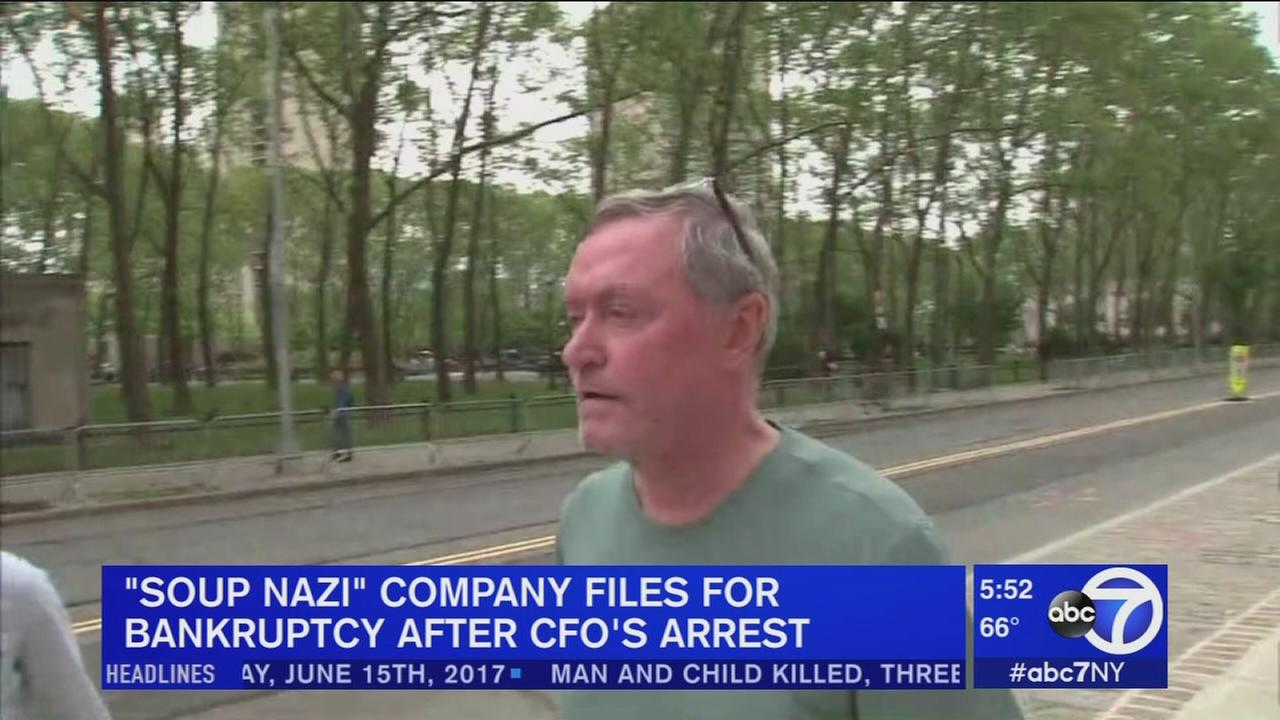 Soup Nazi company files for bankruptcy