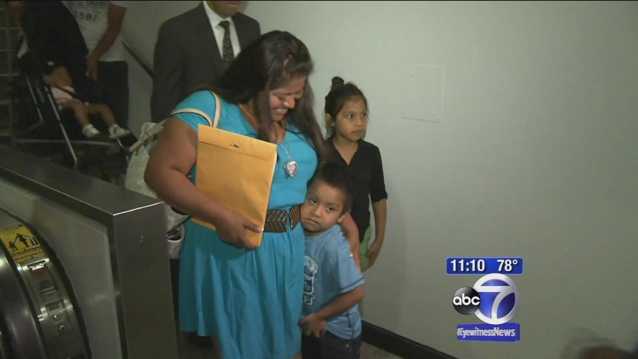 Boy reunited with mother after being smuggled from Mexico