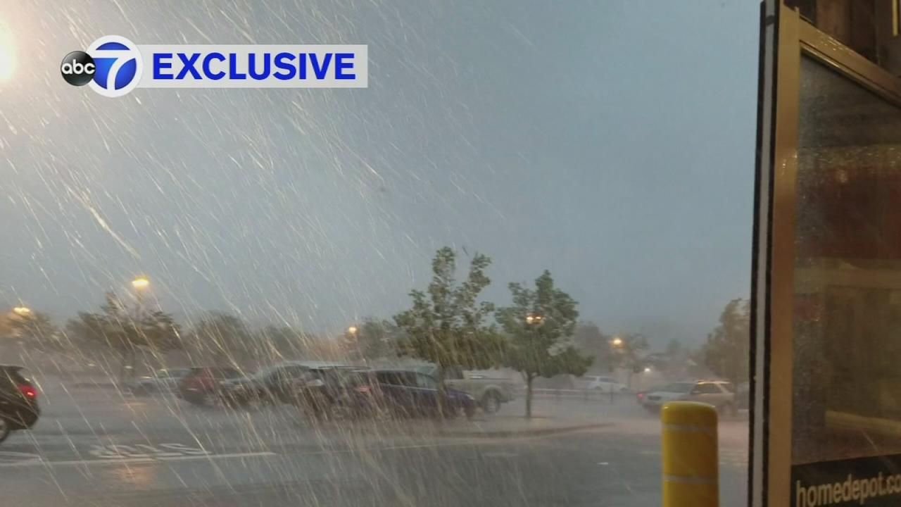 EXCLUSIVE VIDEO: Possible tornado blows through NJ Home Depot parking lot
