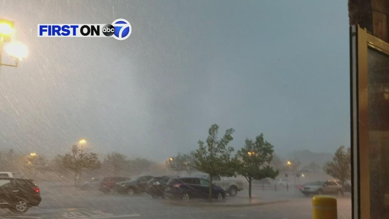 First on 7: Possible tornado blows through NJ Home Depot parking lot.