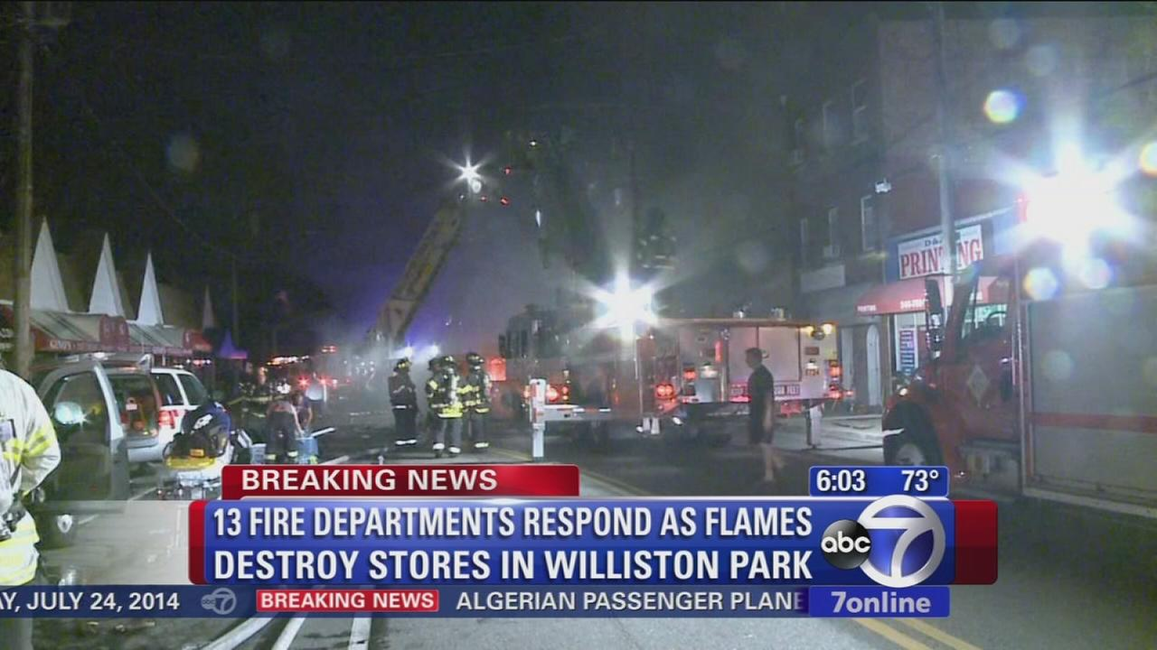 Williston Park fire consumes several businesses