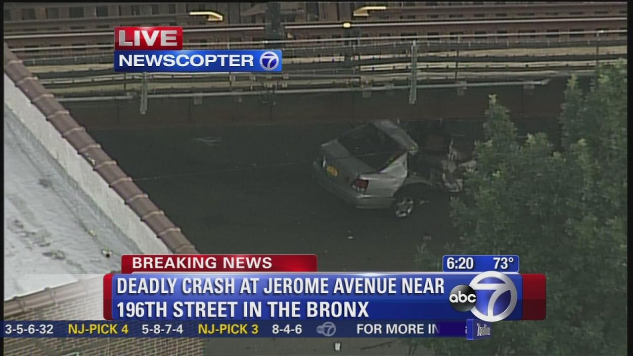 Jerome Avenue section closed after car sliced in half in wreck
