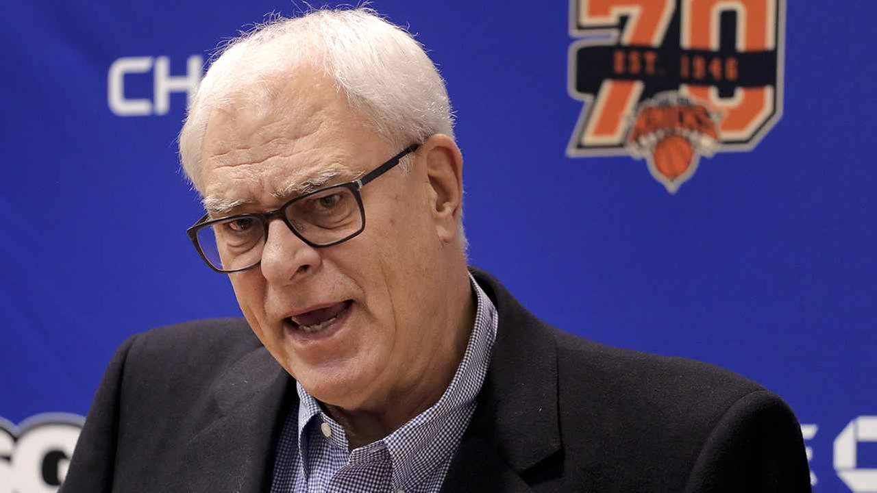 Phil Jackson on April 14, in Greenburgh, N.Y.