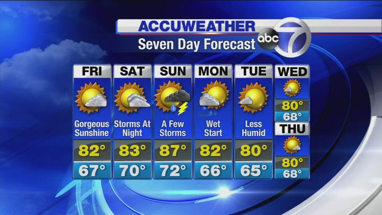Accuweather: A gorgeous day of sunshine
