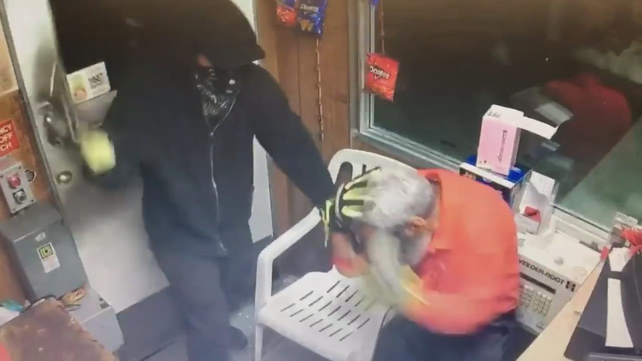 Brutal gas station attack caught on camera in Summit
