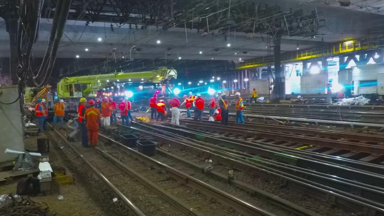 Timelapse of Penn Station repairs