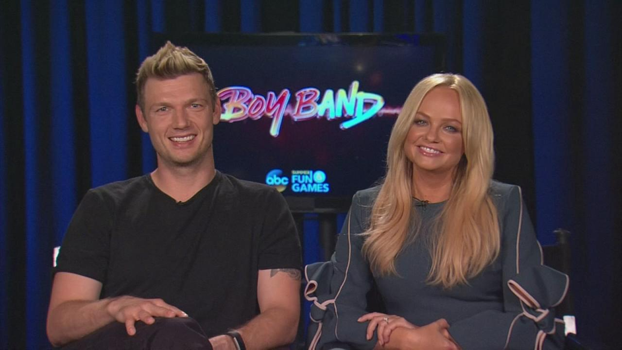 Nick Carter and Emma Bunton talk about judging Boy Band on ABC