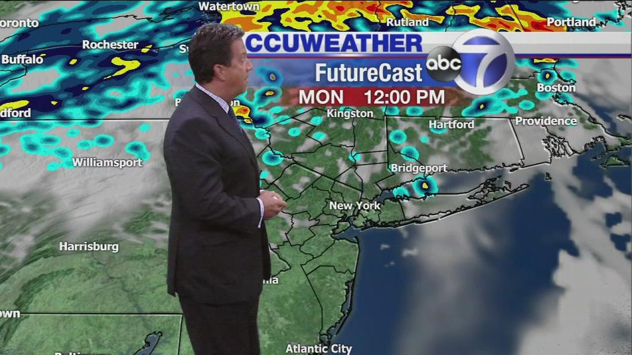 AccuWeather: Scattered storms