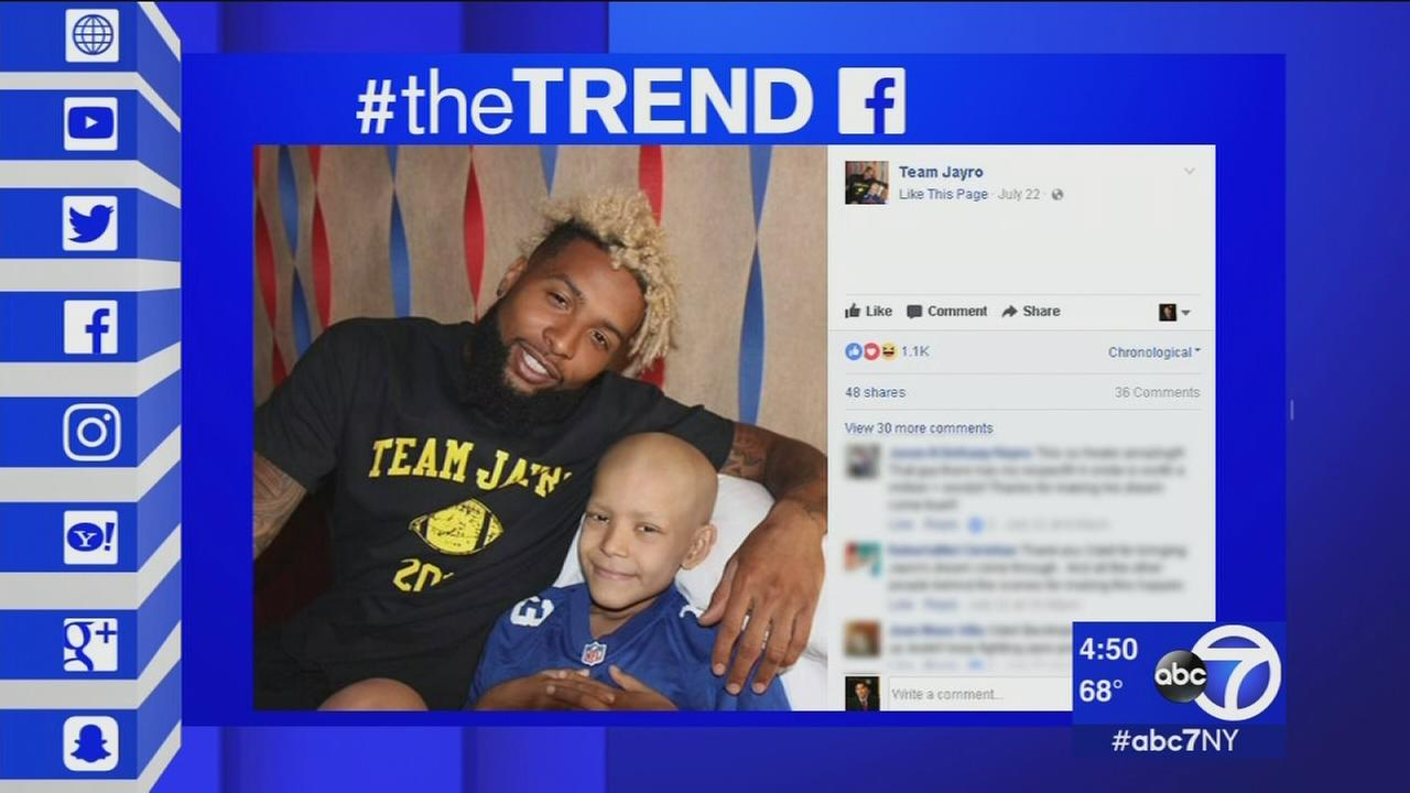 The Trend: Odell Beckham Jr. visits young fan battling rare form of cancer