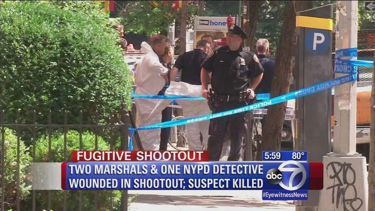 Two US Marshalls and one NYPD detective shot, suspect killed