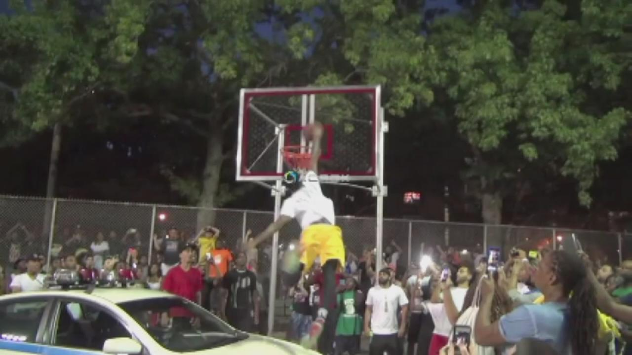 Slam dunk contest helps community in need of healing