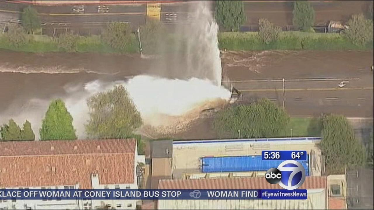 Massive water main break on UCLA campus