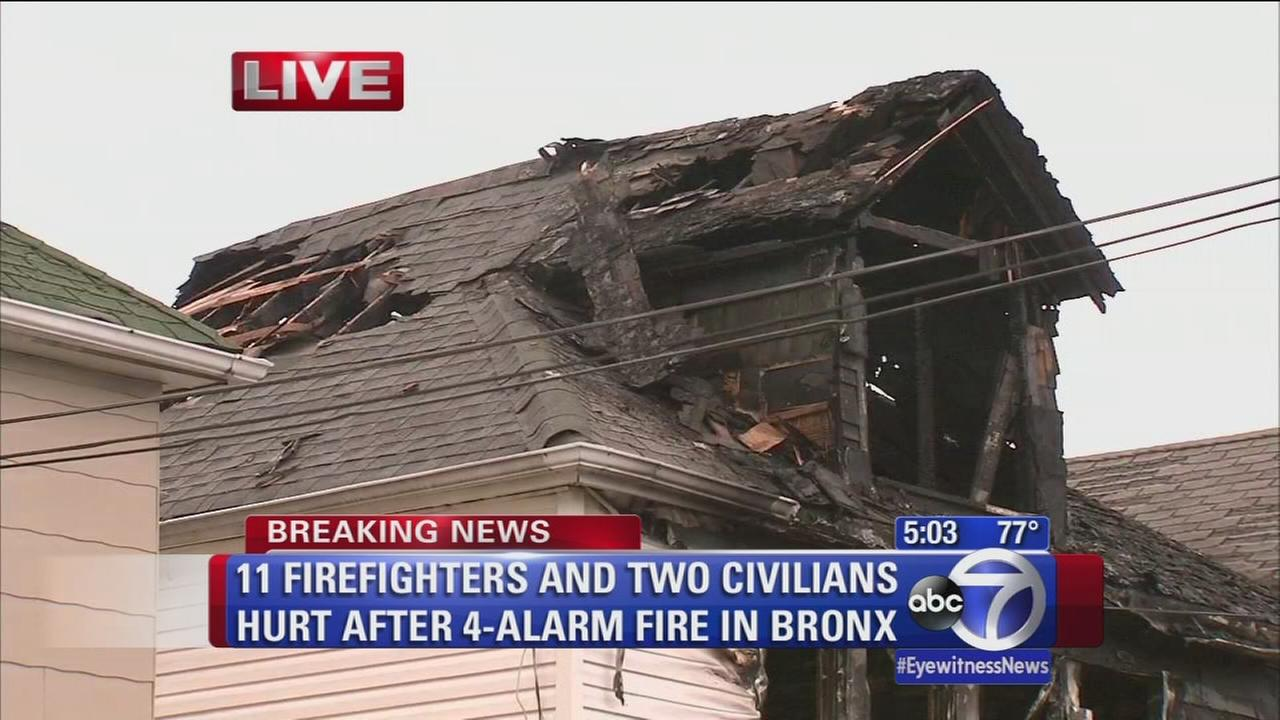 Firefighters and civilians injured in Bronx fire
