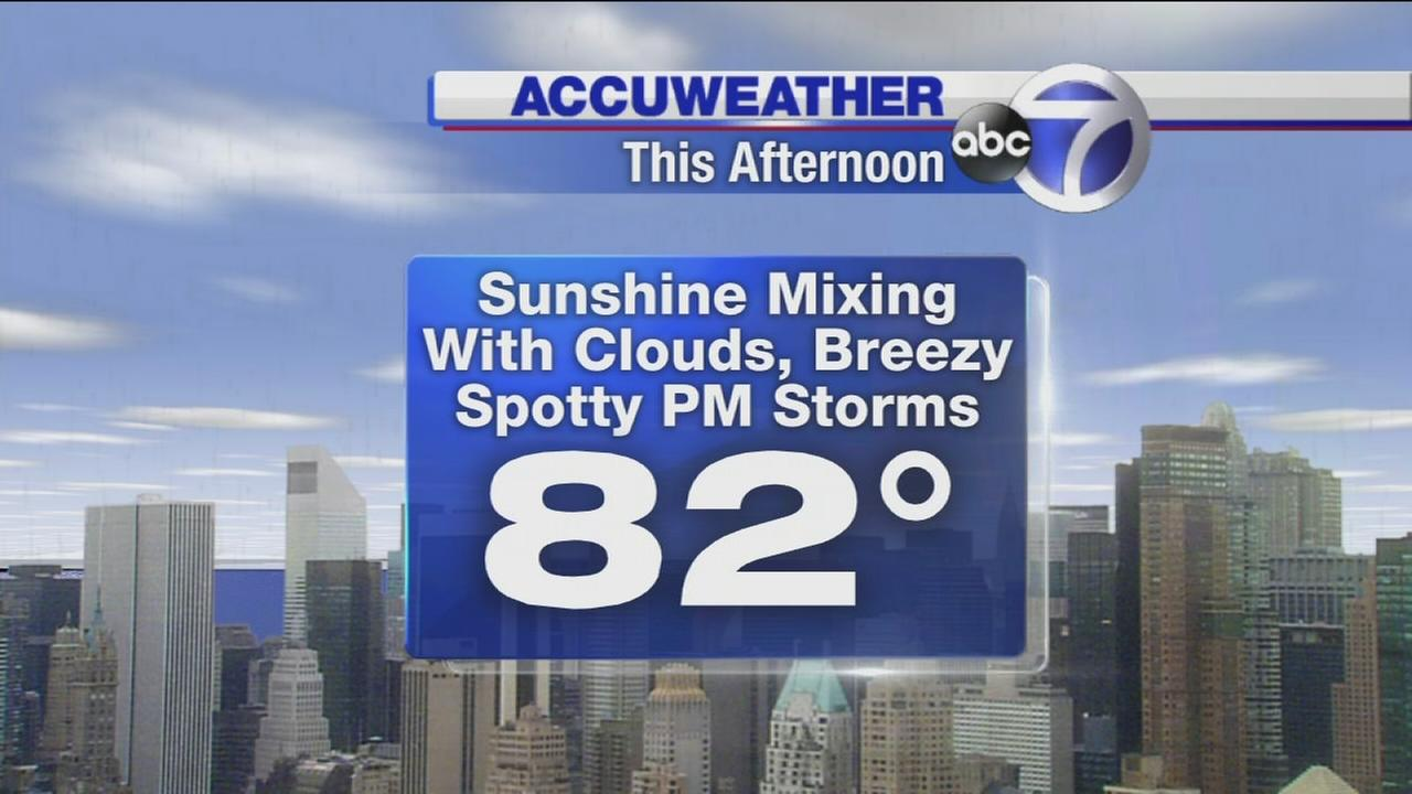 AccuWeather: Mix of sun and clouds with a storm