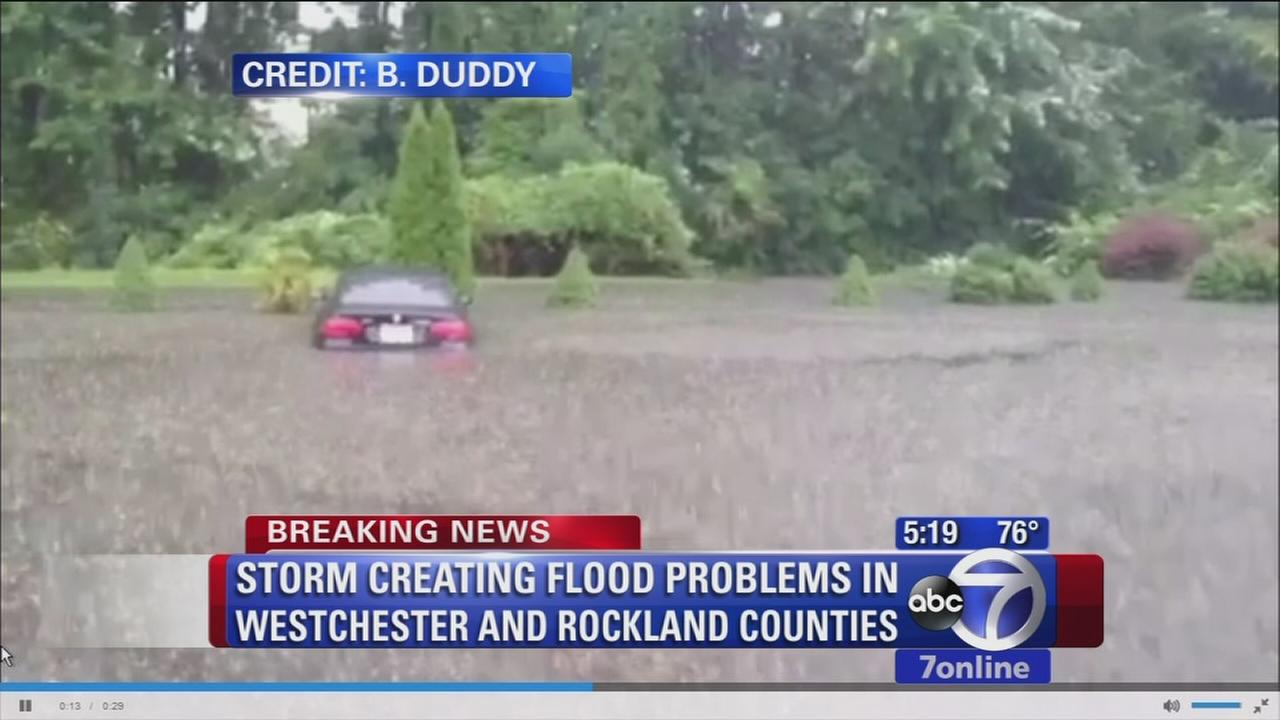Heavy flooding in Rockland County