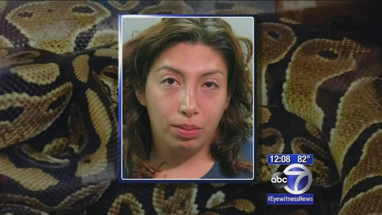 Woman crashes into Long Island firehouse with stolen snake around neck