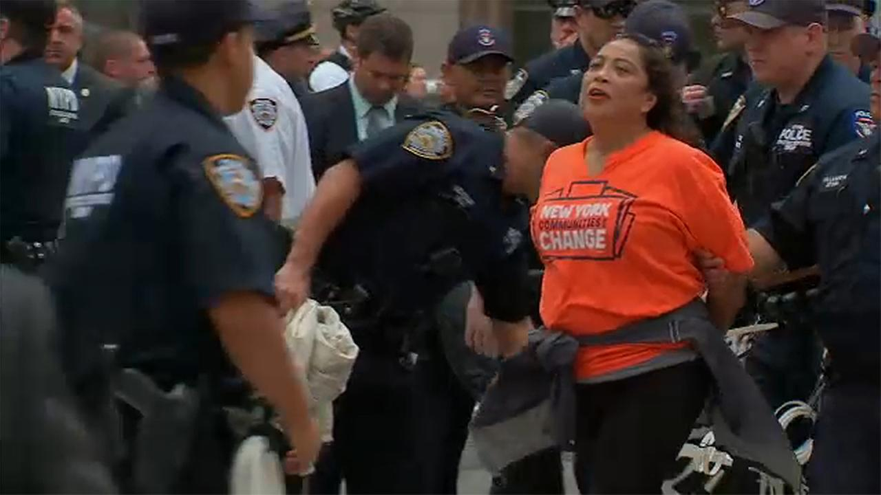 trump protest arrest