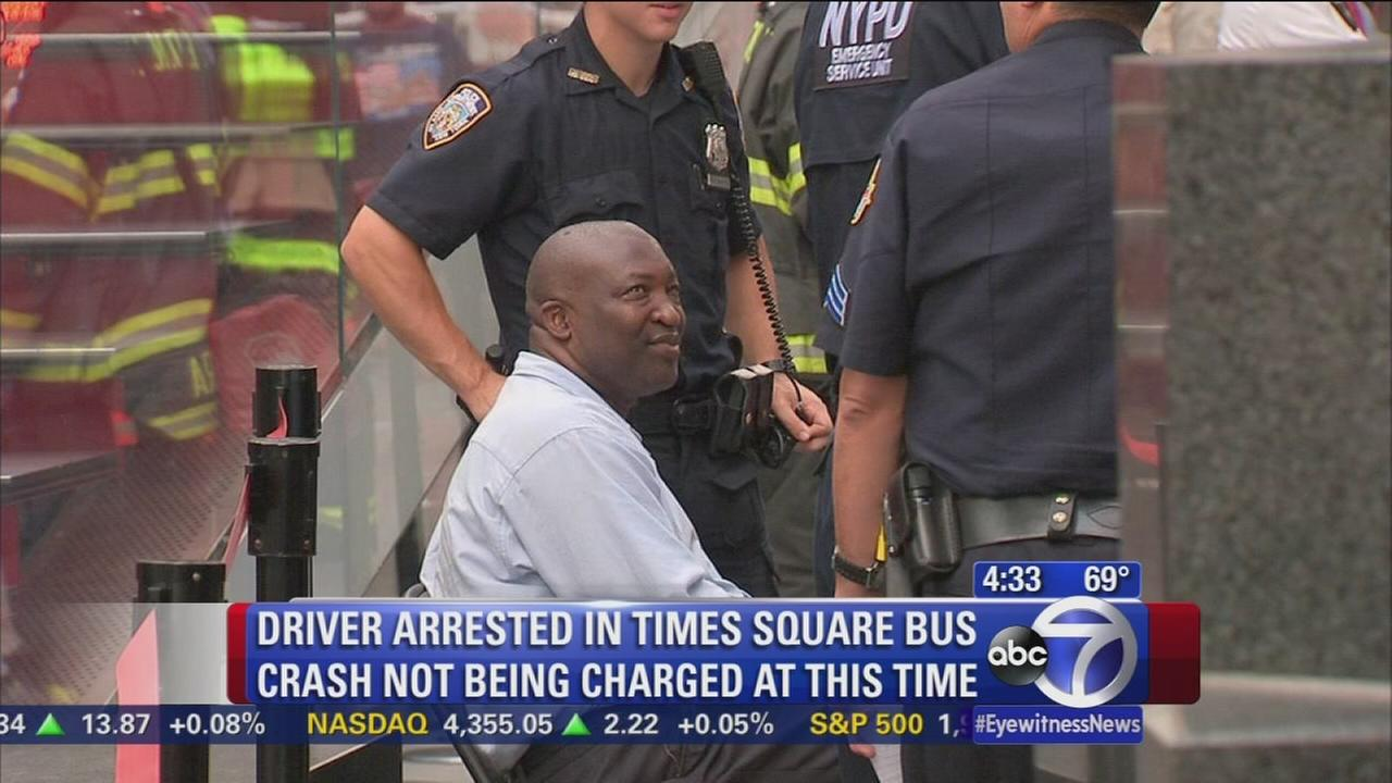 Arrested Times Square bus driver not being charged