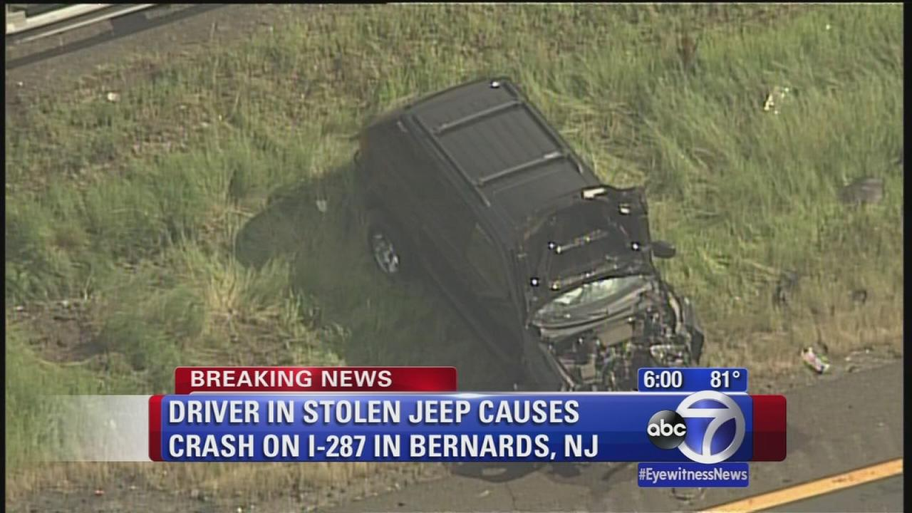 Driver in stolen jeep causes huge traffic backup
