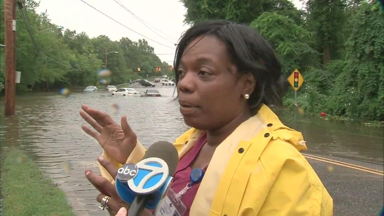 Woman saved from flooded car on Long Island