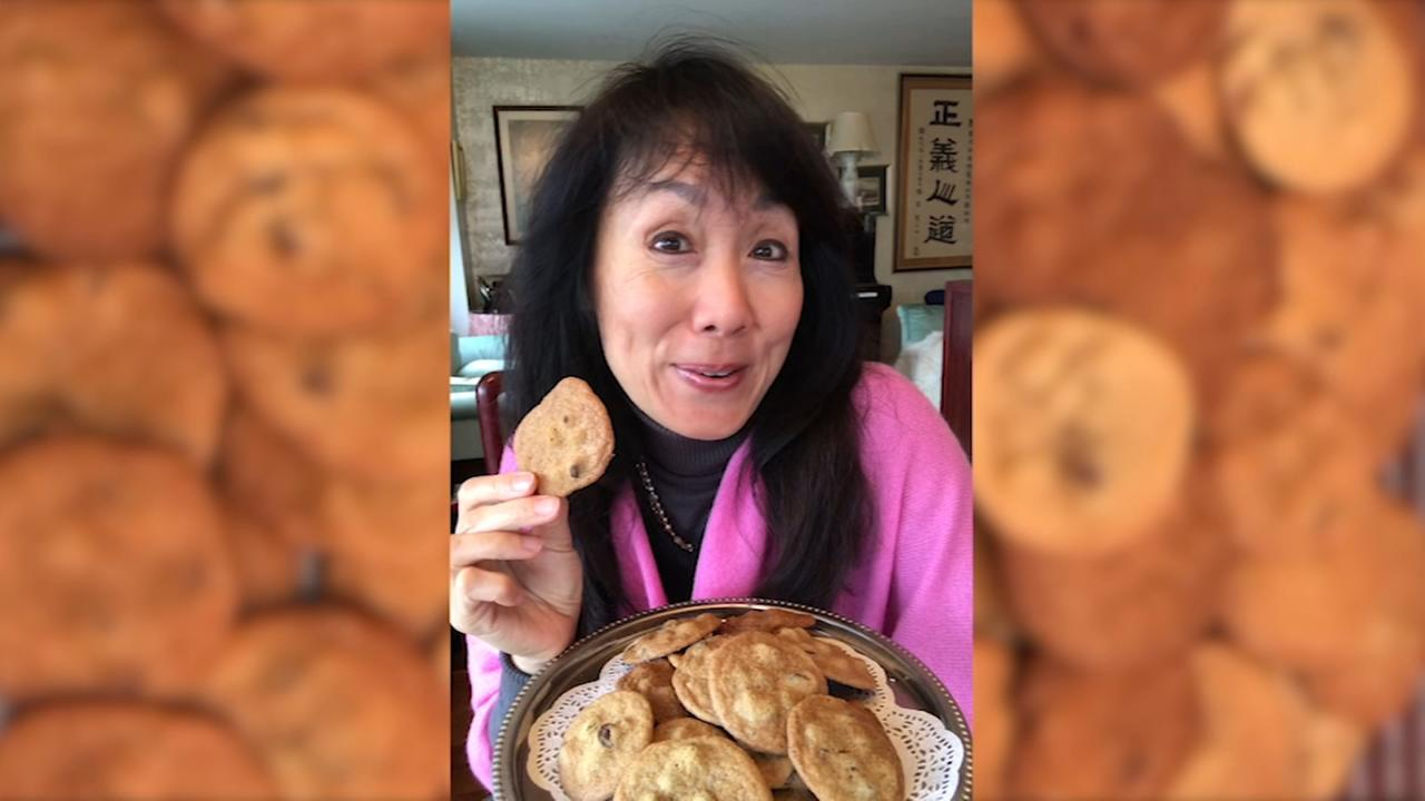 Lucy Yang makes her favorite chocolate chip cookies
