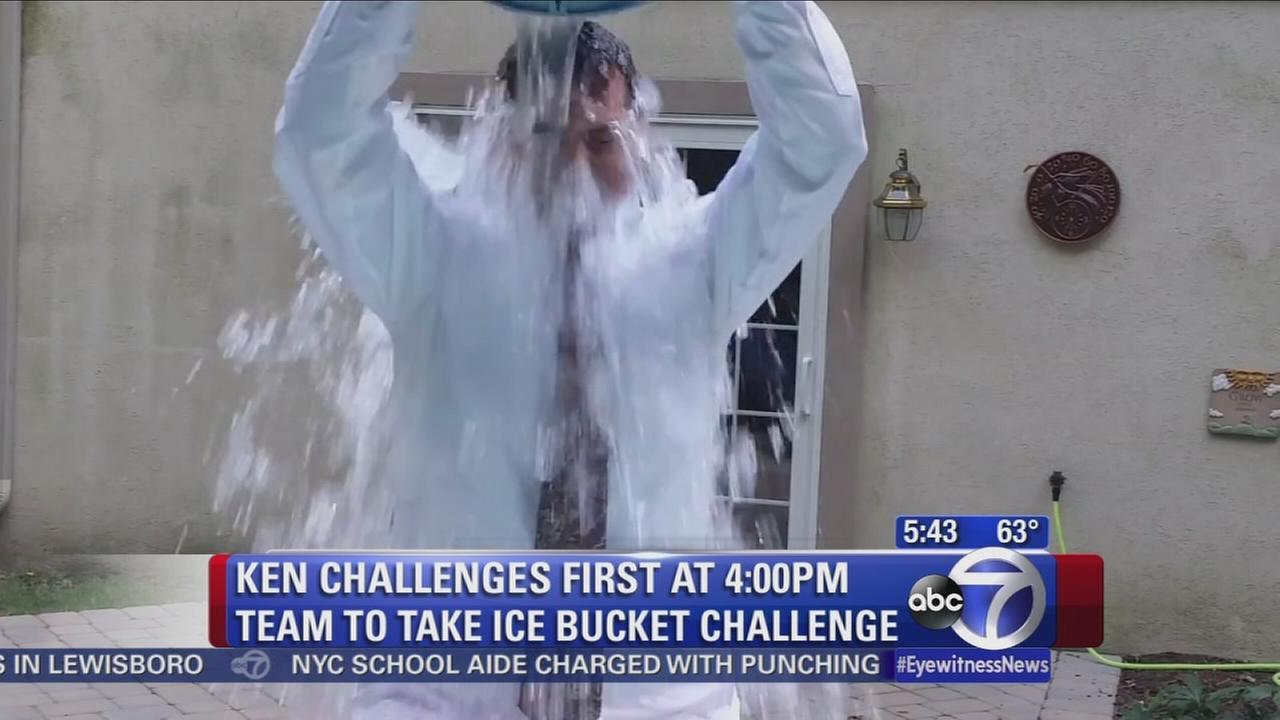 Ken Rosato takes Ice Bucket Challenge