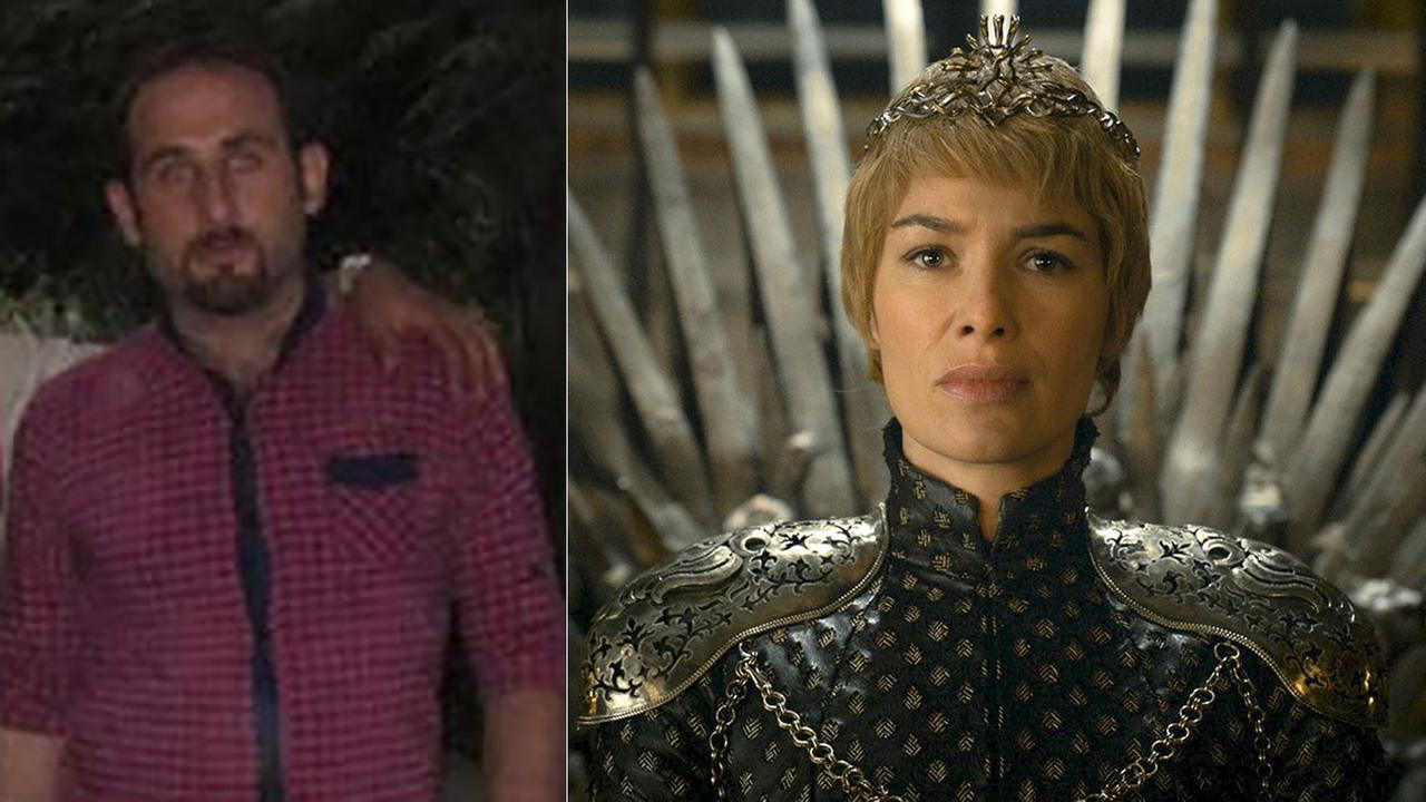 Left - Behzad Mesri, Right - In this undated image released by HBO, Lena Headey appears in a scene from Game of Thrones.