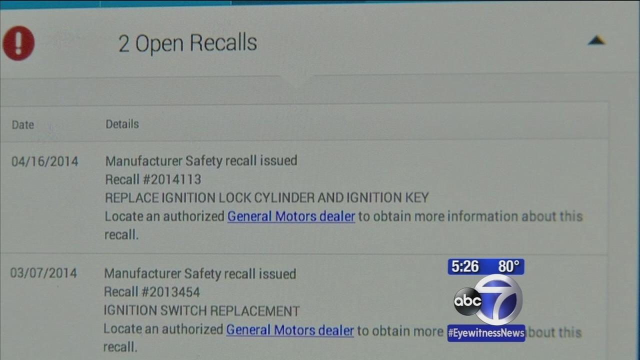 Keeping track of car recalls