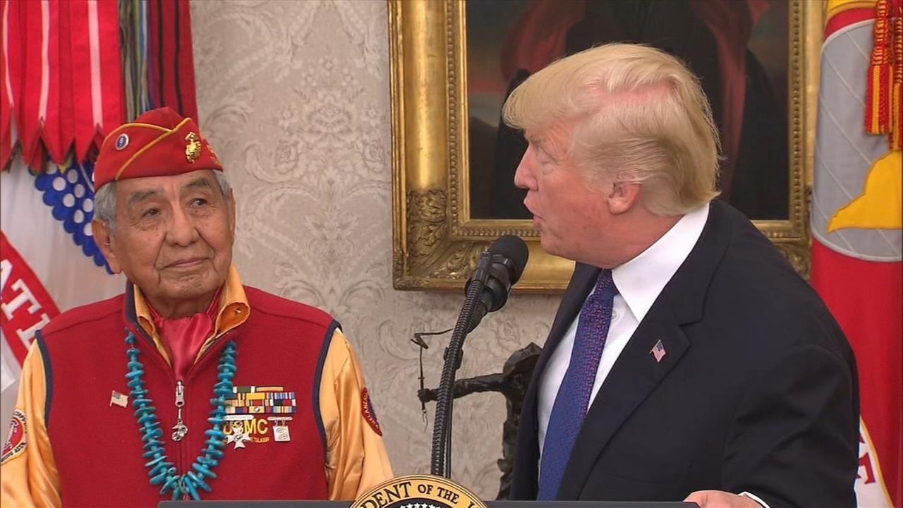 President Trump refers to Sen. Warren as Pocahontas