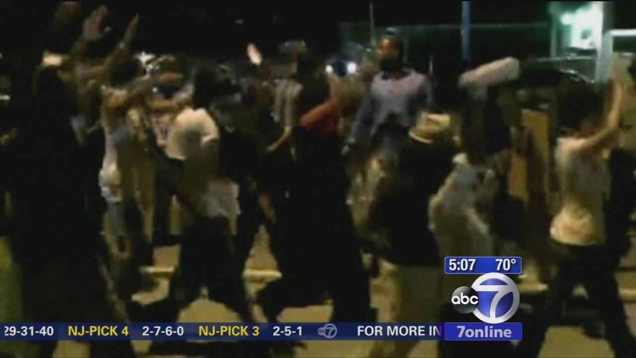 Another tense night in Ferguson