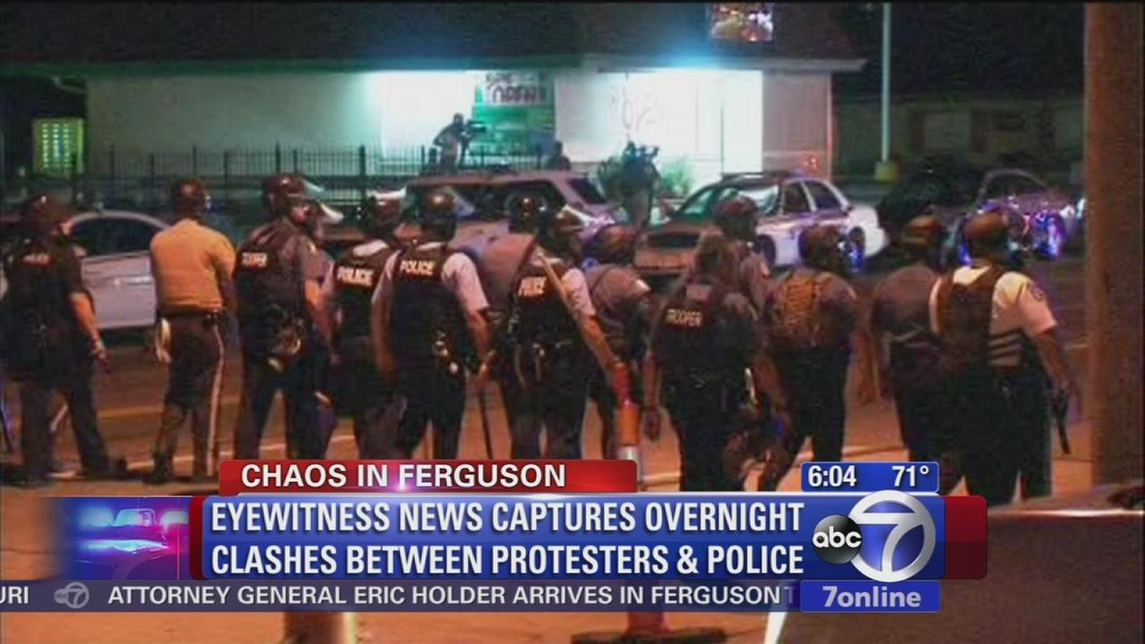 More arrests, but less violence in Ferguson