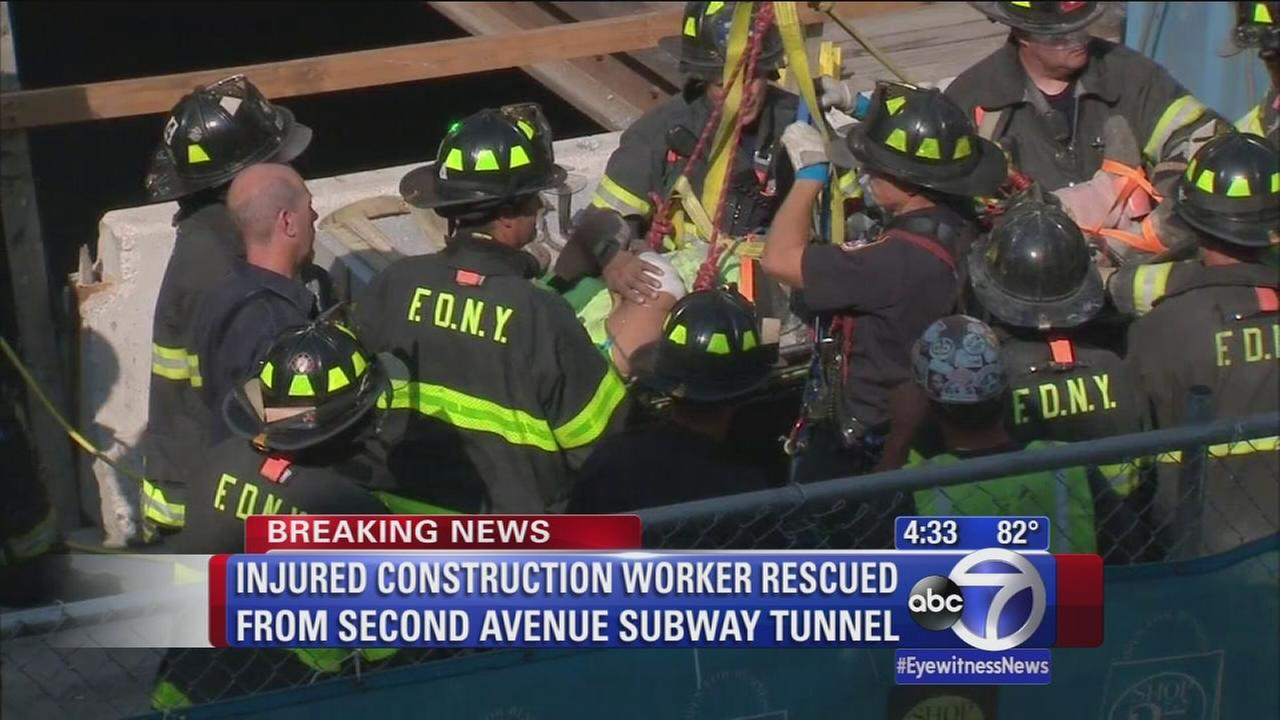 Injured construction worker rescued from 2nd Ave subway tunnel